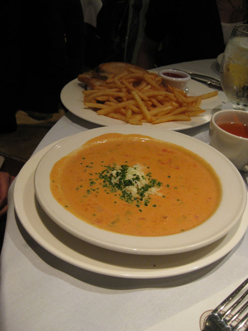 Cream of Tomato Soup, $9