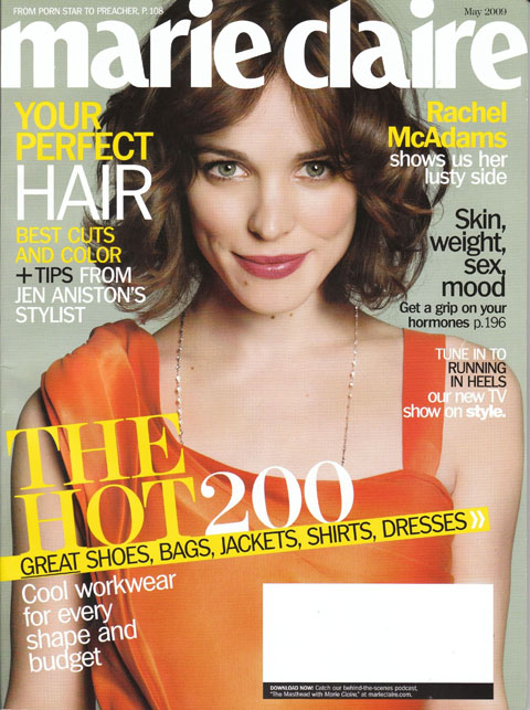 May 2009 issue of Marie Claire