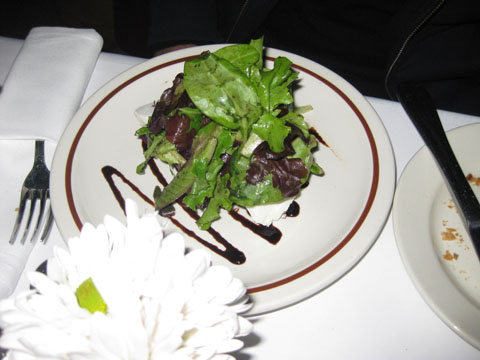 Beet, goat cheese and spouts in vinaigrette salad (Salade De Betteraves Et Chêvre, $11)