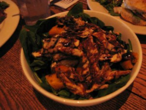 pumpkin salad with chicken, $12.50