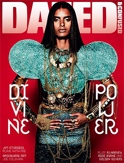 Model Lakshmi Menon on the cover of Dazed and Confused