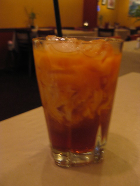 Thai Ice Tea, $2