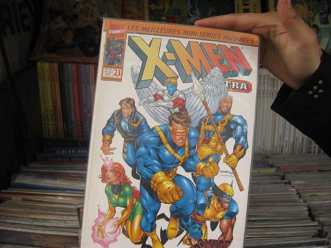 X-Men comic in Paris