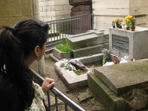 Singer/songwriter Jim Morrison's grave