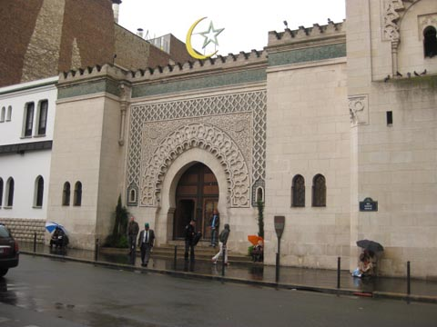 entrance to the Paris Mosque