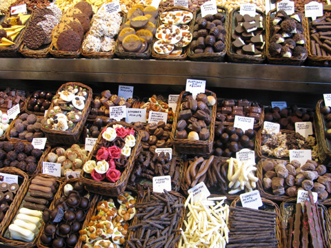 Chocolate and sweets from La Boqueria