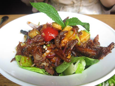 Crispy Duck and Apple Salad, $6