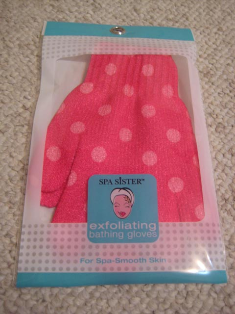 Spa Sister Exfoliating Bathing Gloves