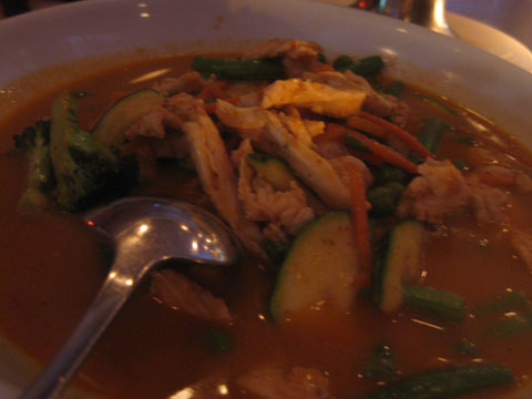 Bangkok Panang Curry, $9