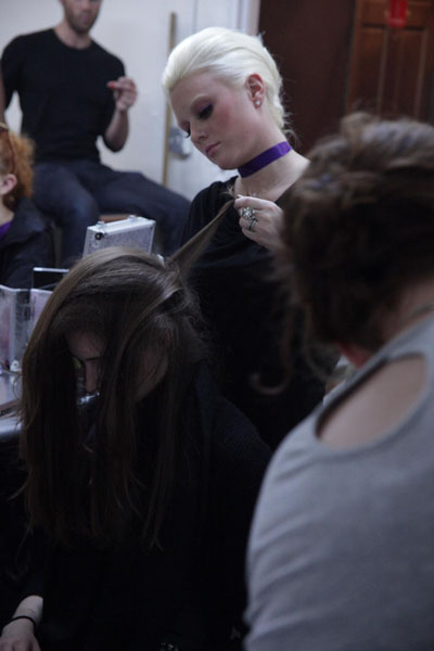 Backstage at The Underground Runway Show
