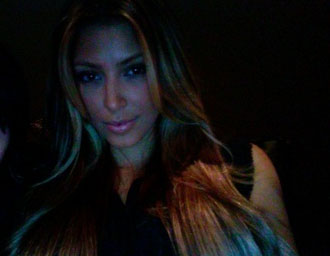 Kim Kardashian as a blonde, Photo credit: kimkardashian.com