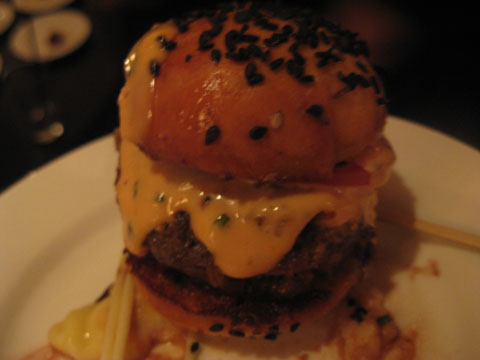 Lil big Mac's, with lil big mac's with japanese wagyu and served with truffle