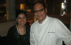 Me and Chef Morimoto! Did I mention he signed my sushi mat for me??