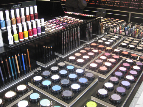 Makeup at Inglot in NY
