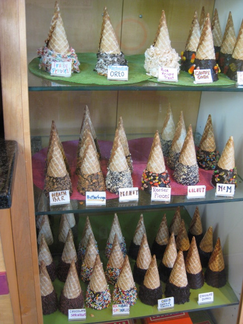 Candy decorated cones