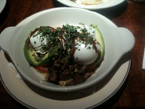 Avocado and Wild Mushrooms, and Toasted English Muffin, $11.50