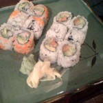 California and salmon rolls
