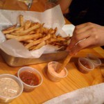 Fries with dipping sauces