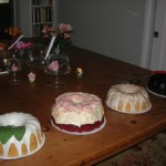 Lemon Basil, Red Velvet, Bourbon, Callebaut Chocolate Bundt (with Chocolate Glaze) Cakes