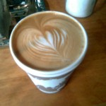 latte at wormhole cafe