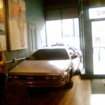 Delorean car at Wormhole Cafe