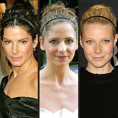 Sandra Bullock Hairstyles on Sandra Bullock  Sarah Michelle Gellar  And Gwyneth Paltrow Wear Their