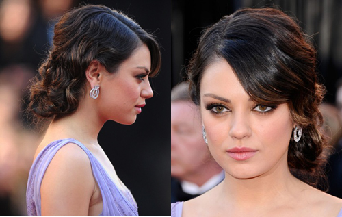 How to mila kunis oscars 2011 hairstyle beauty and the feast mila kunis oscars updo pmusecretfo Image collections
