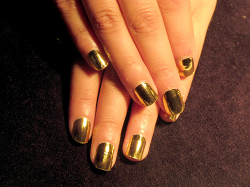 My Finished Gold Minx Manicure