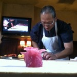 You would be stunned at how quickly he created that tuna rose