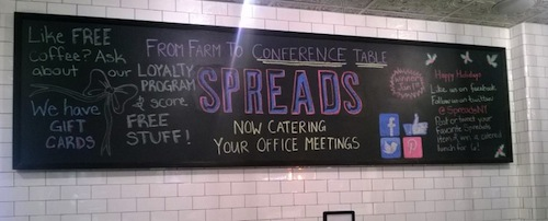 spreads menu