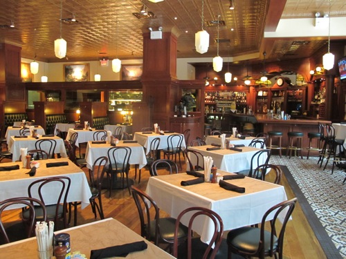 Inside the spacious restaurant, Ted's Montana Grill