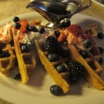 Chantilly waffles, $12
