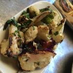 Wood roasted cauliflower, garlic, chili, vinegar