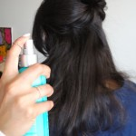 Use heat protectant before using the flat iron for best results