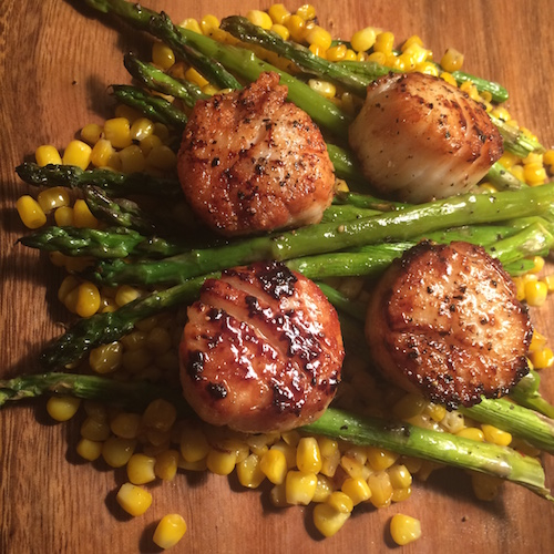 My seared scallops!