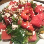 Watermelon feta salad -- so refreshing