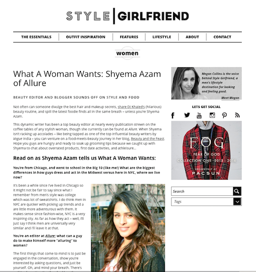 Style Girlfriend interview